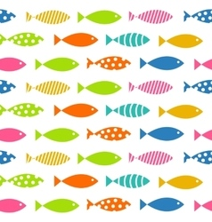 Mult Fish Seamless Pattern Background vector image