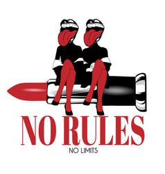 no rules no limits hand drawn of vector image