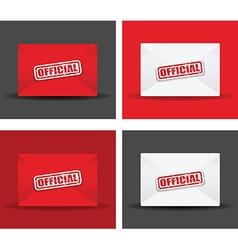 official envelope set vector image