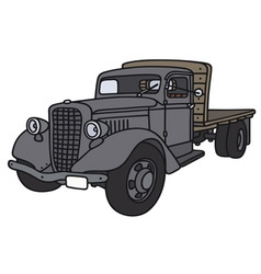 Old truck vector image