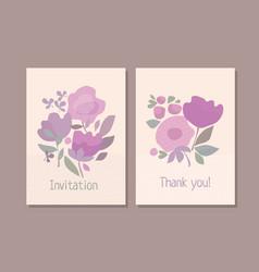 pastel color boho style floral element vector image