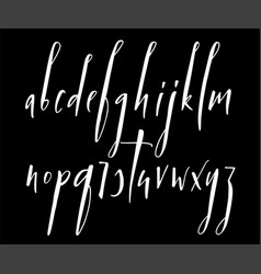 Pen handwritten alphabet vector