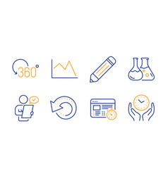 Pencil customer survey and recovery data icons vector