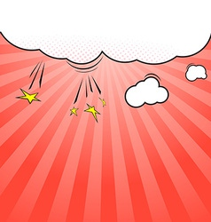 Pop-art style cloud explosion background template vector image