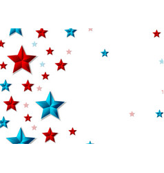 red and blue shiny stars abstract background vector image