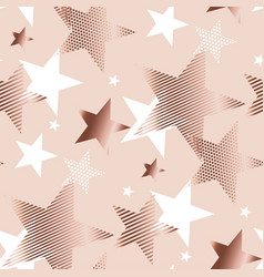 Rose gold color abstract geometry star vector