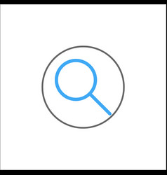 Search filled icon mobile sign and magnifier vector