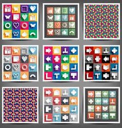 set icons arrows vector image