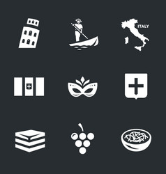 set italy icons vector image