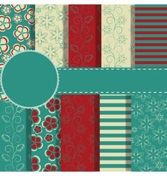 set of beaautiful paper for scrapbook vector image