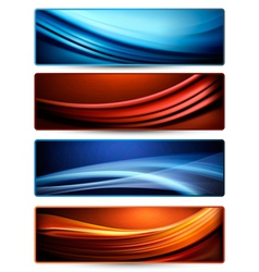 Set of colorful abstract business banners vector