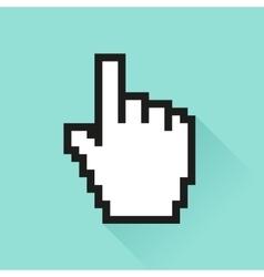 Set of social media icon ursor hand vector
