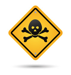 skull poison sign vector image