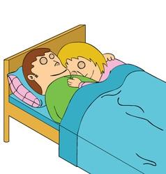 Sleeping couple vector image