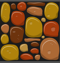 Stone wall game texture beautiful banner vector