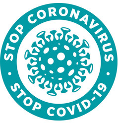 stop corona virus sign or sticker vector image