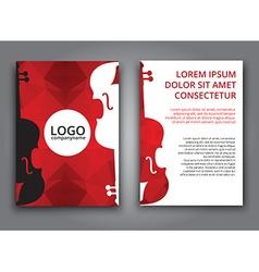 Template music polygonal brochure vector image