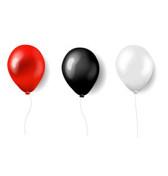 three balloons red white and black vector image