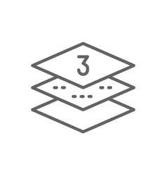 three-layer napkin paper line icon vector image