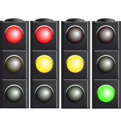 traffic light variants vector image