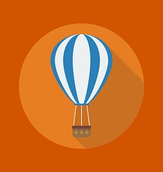 Transportation Flat Icon Hot air balloon vector image
