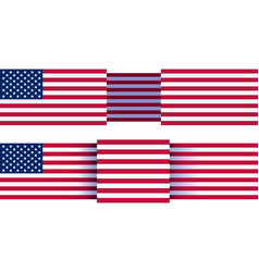 us background flag vector image
