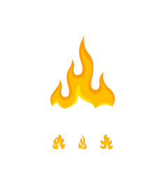 wavy design of flame on white vector image