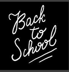 welcome back to school sign on black background vector image