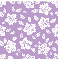 White flower fabric print seamless pattern vector