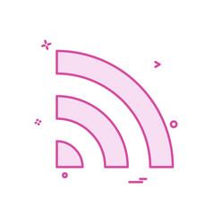 wifi network icon design vector image