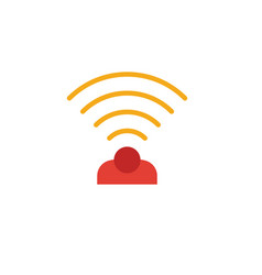 Wireless sensor icon simple element from smart vector