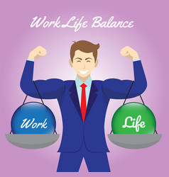 work life balance crystal balls hanging on arms vector image