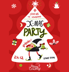 xmas party poster vector image