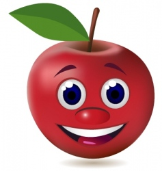apple character vector image vector image