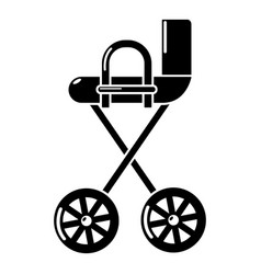 baby carriage yellow icon simple black style vector image vector image