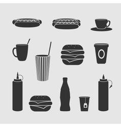 Diner set vector image vector image