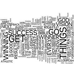 Eight strategies to become a winner text vector