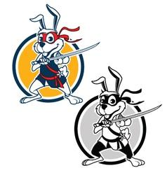 Ninja Rabbit vector image vector image