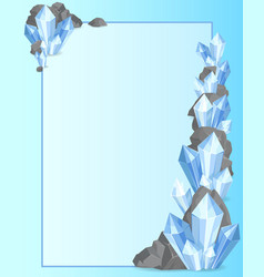 precious stones and rock frame vector image