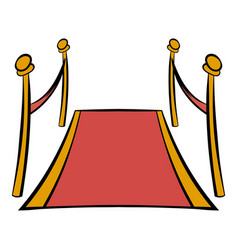 red carpet icon cartoon vector image