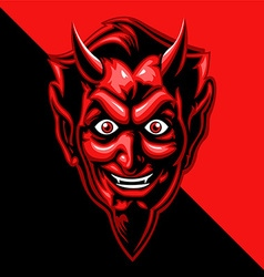 red devil face vector image vector image
