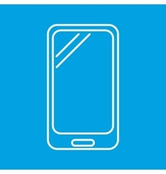 Smartphone thin line icon vector image vector image