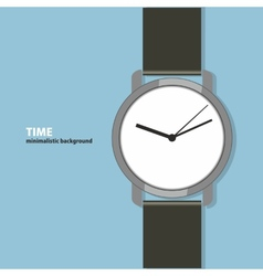 Time Minimalistic background vector image