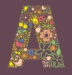 A letter color variant vector image