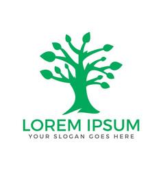 green tree logo vector image vector image