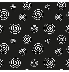 Spiral monochrome seamless texture vector image vector image