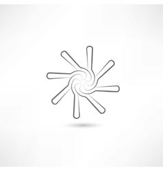 Spoons in circle vector image