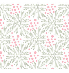 taraxacum floral seamless pattern vector image vector image