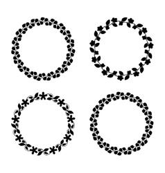 Cute laurel wreaths vector image vector image