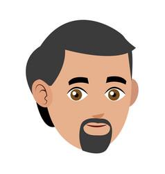 man adult beard mustache avatar vector image